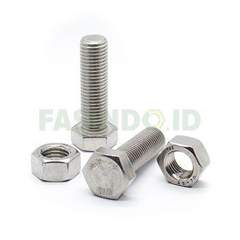 Baut Mur, Stainless Steel 304, M3x10mm, P-0.50mm